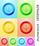 vector flat circle buttons with ...