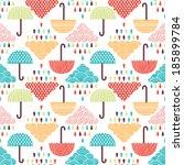 rain seamless pattern | Shutterstock .eps vector #185899784