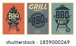 set of barbecue posters. bbq... | Shutterstock .eps vector #1859000269