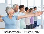 portrait of fitness class... | Shutterstock . vector #185902289