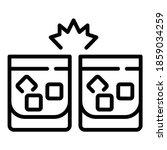 cheers cognac ice cube glasses... | Shutterstock .eps vector #1859034259