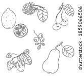 linear hand drawn vector set of ... | Shutterstock .eps vector #1859066506