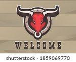 Vector Illustration Bull Head...