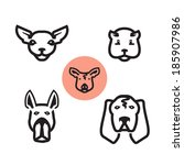 animals icons. vector format | Shutterstock .eps vector #185907986