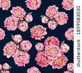 seamless pattern beautiful pink ... | Shutterstock . vector #1859083030