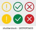 set of flat round check mark ... | Shutterstock .eps vector #1859095603