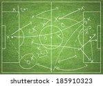 soccer tactics | Shutterstock . vector #185910323