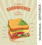 sandwiches. vector illustration.... | Shutterstock .eps vector #185910818