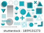 set of geometric shapes blue... | Shutterstock .eps vector #1859131273