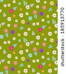 flower simple seamless pattern | Shutterstock .eps vector #185913770