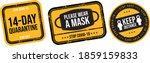 please wear a mask 14 day... | Shutterstock .eps vector #1859159833