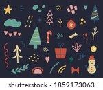 christmas design elements set.... | Shutterstock .eps vector #1859173063