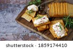 Selective focus. crackers with...