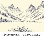 mountains panorama and alpine... | Shutterstock .eps vector #1859182669