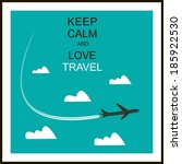 travel and tourism background   ...   Shutterstock .eps vector #185922530