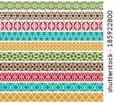 moroccan borders   Shutterstock .eps vector #185922800