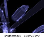 bicycle. water bottle. x ray... | Shutterstock . vector #185923190