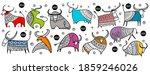 happy new year card 2021. bull  ...   Shutterstock .eps vector #1859246026