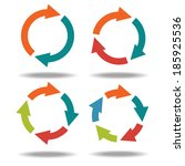 set icons circle arrows... | Shutterstock . vector #185925536