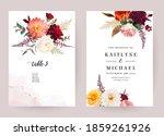 moody boho chic wedding vector... | Shutterstock .eps vector #1859261926