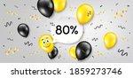 80  off sale. balloon confetti...   Shutterstock .eps vector #1859273746