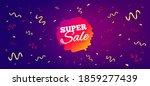 super sale banner. festive... | Shutterstock .eps vector #1859277439