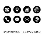 contact us icon symbol pack.... | Shutterstock .eps vector #1859294350