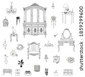 set of icons furniture and...   Shutterstock .eps vector #1859299600