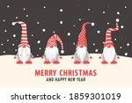 merry christmas postcard. four... | Shutterstock .eps vector #1859301019