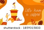 coffee break concept with tiny... | Shutterstock .eps vector #1859315833