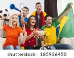 group of multinational people... | Shutterstock . vector #185936450