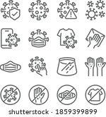 coronavirus icon illustration... | Shutterstock .eps vector #1859399899