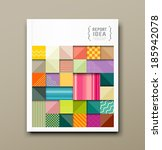 cover annual report  colorful... | Shutterstock .eps vector #185942078