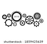 collection of retro gear icon.... | Shutterstock .eps vector #1859425639