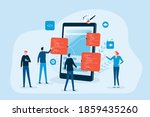 mobile application and web... | Shutterstock .eps vector #1859435260