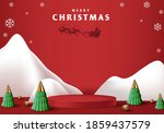 merry christmas banner with... | Shutterstock .eps vector #1859437579