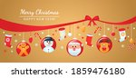 greeting card  christmas poster ... | Shutterstock .eps vector #1859476180