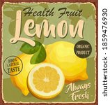 vintage health fruit lemon...   Shutterstock .eps vector #1859476930