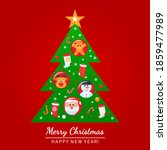 greeting card  christmas poster ... | Shutterstock .eps vector #1859477989