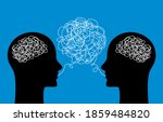 two heads of people with... | Shutterstock .eps vector #1859484820
