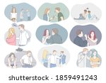 conflicts in couple ... | Shutterstock .eps vector #1859491243