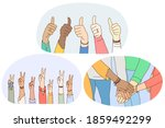 sign and gesture language ... | Shutterstock .eps vector #1859492299