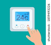electronic thermostat with...   Shutterstock .eps vector #1859493226