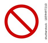 red prohibition sign on white... | Shutterstock .eps vector #1859497210