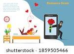 romance scam  dating scam ...   Shutterstock .eps vector #1859505466