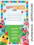 happy birthday greeting card... | Shutterstock .eps vector #1859514100