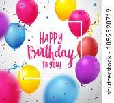 birthday celebration banner... | Shutterstock . vector #1859528719