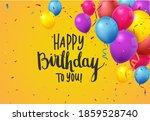 birthday celebration banner...   Shutterstock . vector #1859528740
