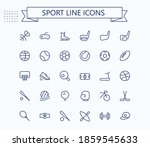 Sport Line Mini Icons. Editable ...