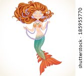 beautiful mermaid with... | Shutterstock .eps vector #185955770